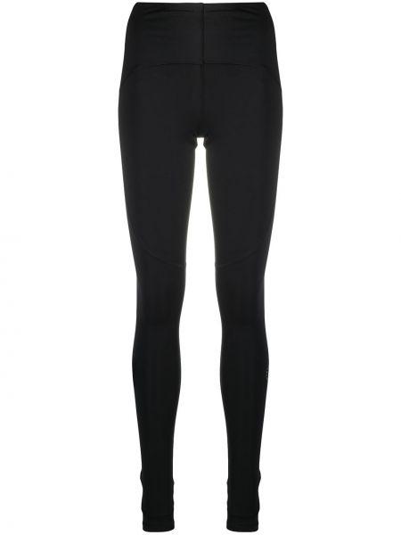 Черные леггинсы эластичные со вставками Adidas By Stella Mccartney