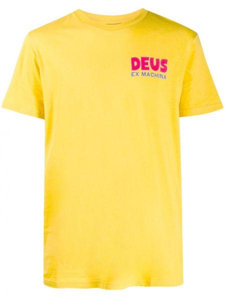 Koszula krótkie z krótkim rękawem z logo żółty Deus Ex Machina
