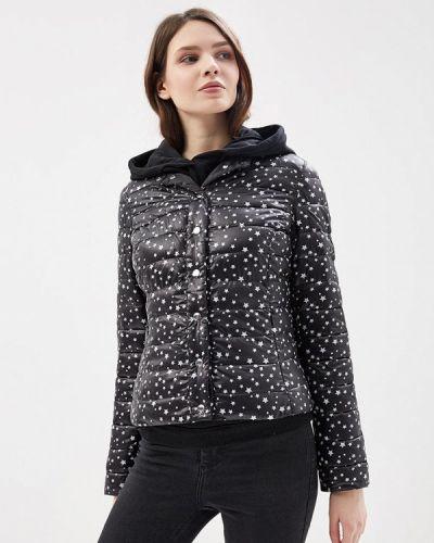 Утепленная куртка демисезонная черная Motivi