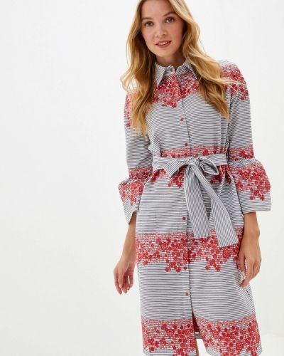 Платье серое платье-рубашка Adzhedo