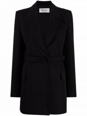 Пиджак длинный - черный Valentino