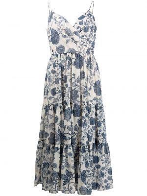 Niebieska sukienka z printem Sachin & Babi