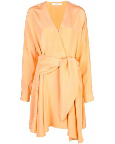 Платье мини с запахом с V-образным вырезом Tibi
