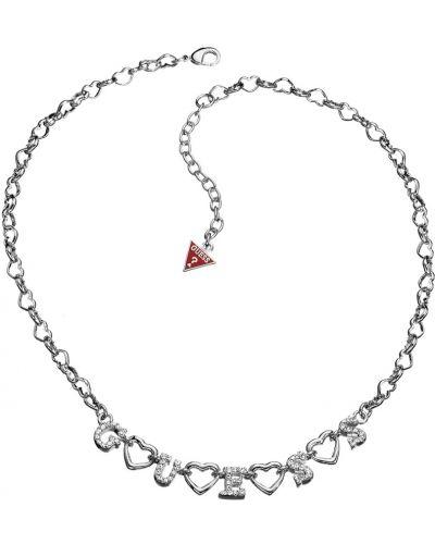 Серебряная цепочка из серебра с камнями Guess