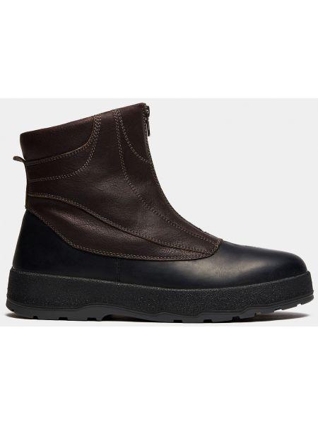 Городские серые кожаные зимние ботинки Ralf Ringer