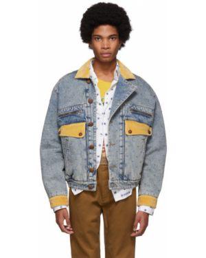 Джинсовая куртка длинная на резинке Gucci