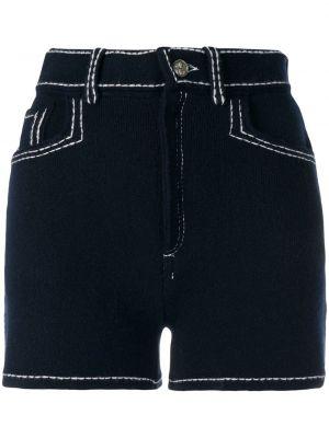 Хлопковые черные шорты с карманами Barrie