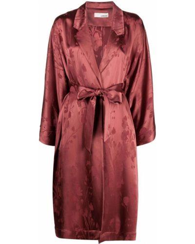 Красное пальто с лацканами из вискозы Lardini