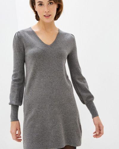 Серое вязаное платье Rodier