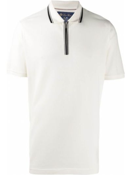 Biała koszulka krótki rękaw Loro Piana