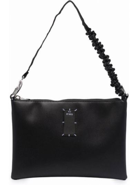 Czarna torebka skórzana Mcq