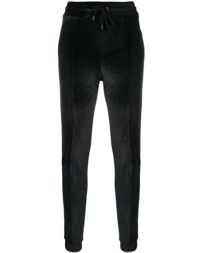 Спортивные брюки с завышенной талией - черные Marcelo Burlon. County Of Milan