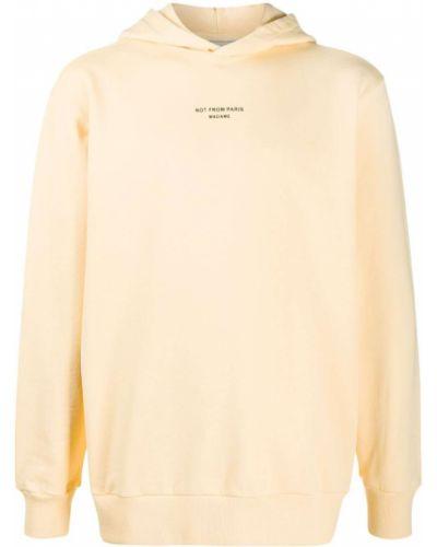 Pomarańczowa bluza długa bawełniana z długimi rękawami Drole De Monsieur
