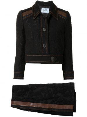 Z wysokim stanem niebieski bawełna bawełna spódnica maxi Prada Pre-owned