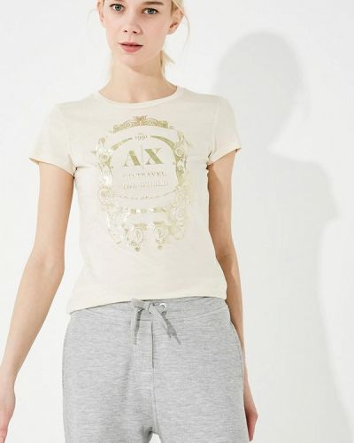 Бежевая футболка Armani Exchange