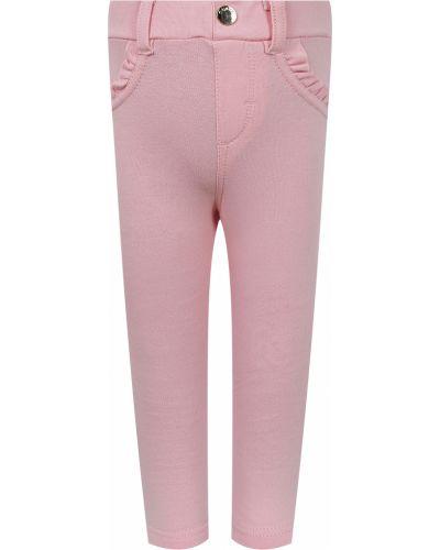 Розовые хлопковые леггинсы Mayoral