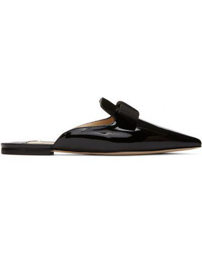 Czarne loafers skorzane Jimmy Choo