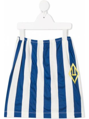Niebieska spódnica ołówkowa bawełniana z printem The Animals Observatory