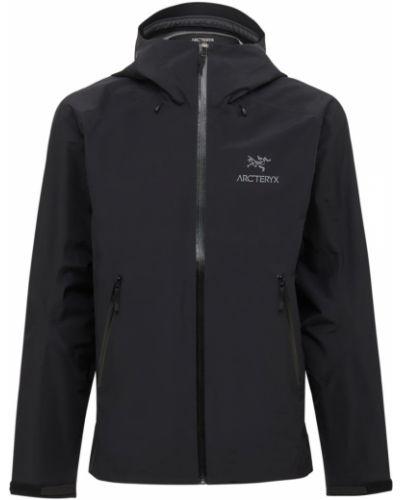 Черная нейлоновая куртка Arcteryx