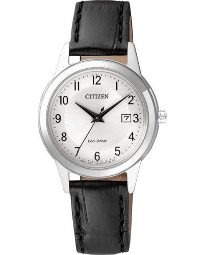 Часы на кожаном ремешке кварцевые водонепроницаемые Citizen