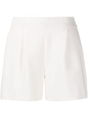 Плиссированные шелковые шорты на пуговицах Oscar De La Renta