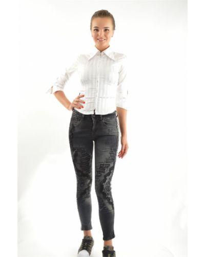 Хлопковые джинсы - черные D'she