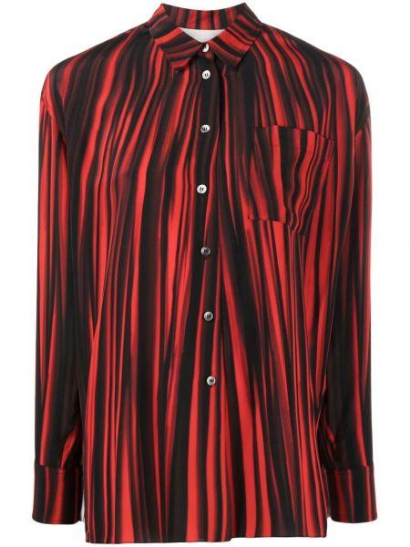 Шелковая красная классическая рубашка с воротником Paul Smith