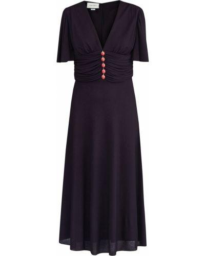 Платье с поясом на пуговицах приталенное Gucci