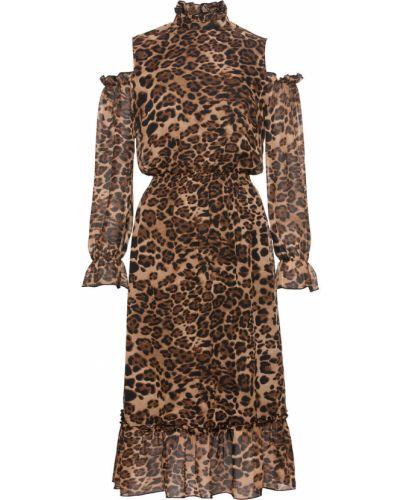 Платье миди с принтом леопардовое Bonprix