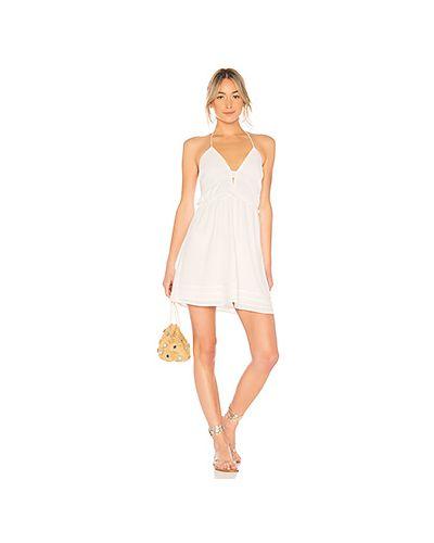 Платье с оборками в рубчик Tavik Swimwear