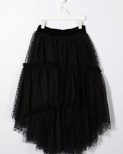 Spódnica asymetryczna - czarna Monnalisa