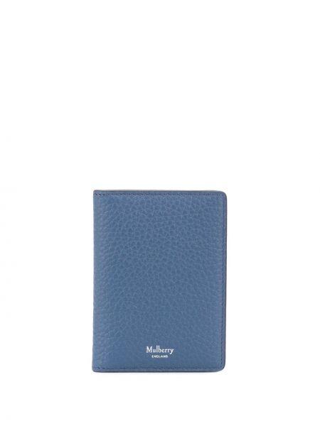 Niebieski portfel z gniazdem z prawdziwej skóry Mulberry