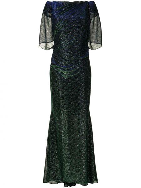 Платье макси - зеленое Talbot Runhof