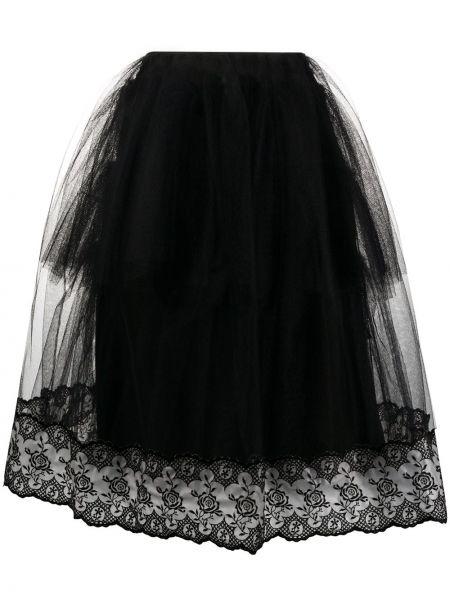 Юбка миди из фатина - черная Simone Rocha