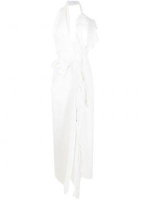 Biała sukienka długa asymetryczna Maticevski