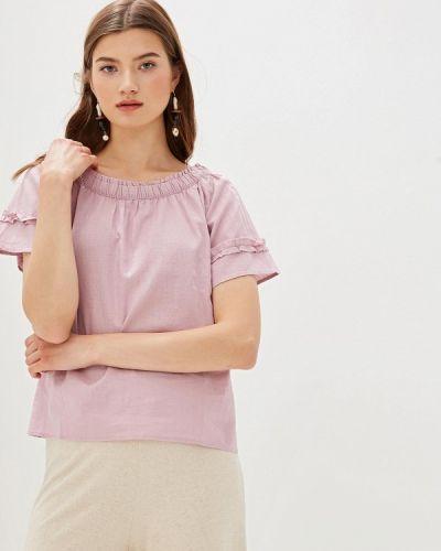 Блузка с открытыми плечами розовая весенний Nice & Chic