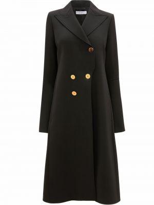 Czarny płaszcz wełniany Jw Anderson