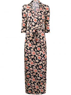 Черное платье с кулиской Dvf Diane Von Furstenberg