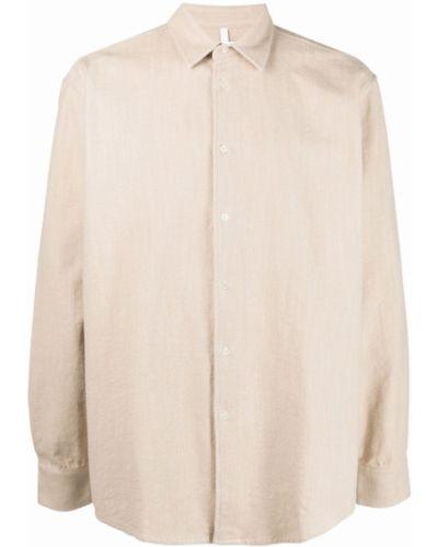 Beżowa koszula z długimi rękawami Soulland