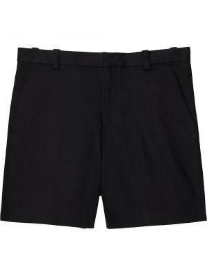 Хлопковые черные шорты с карманами Marc Jacobs