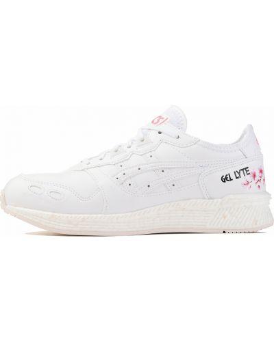 Кожаные кроссовки - белые Asics
