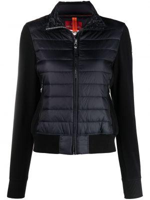 Хлопковая ватная черная длинная куртка Parajumpers
