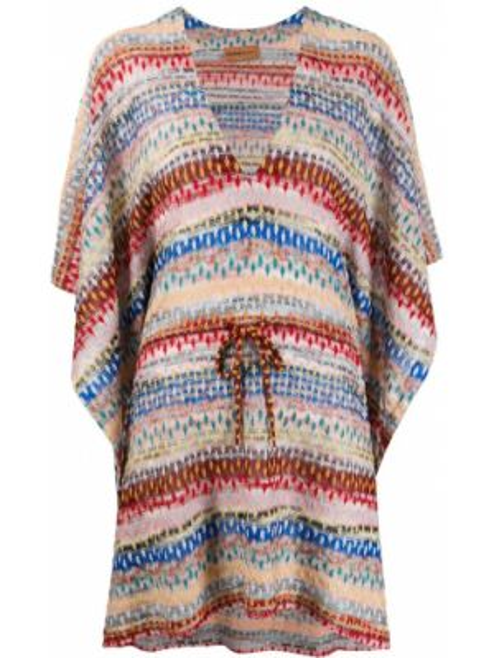 Платье макси в полоску с V-образным вырезом Missoni Mare