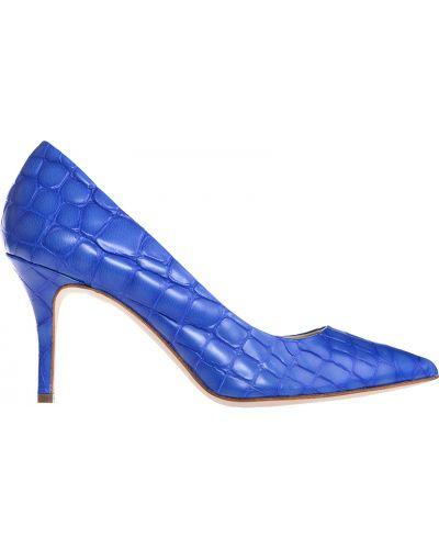 Синие кожаные туфли Fabi