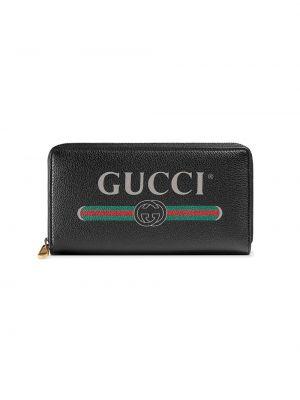Czarny portfel skórzany na co dzień Gucci