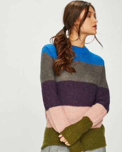 Вязаный свитер шерстяной с узором Pieces