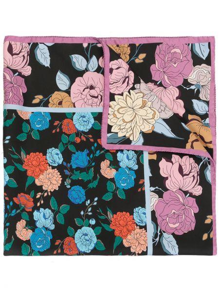 Черный шелковый платок Mulberry