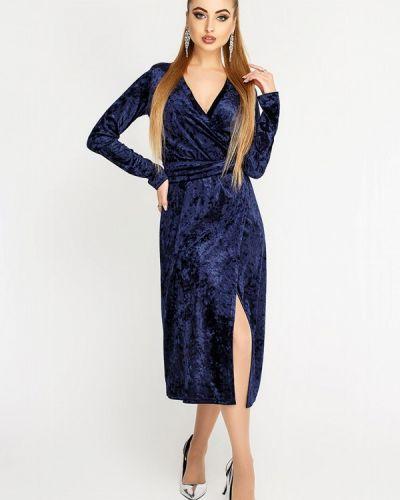 Вечернее платье осеннее синее Leo Pride