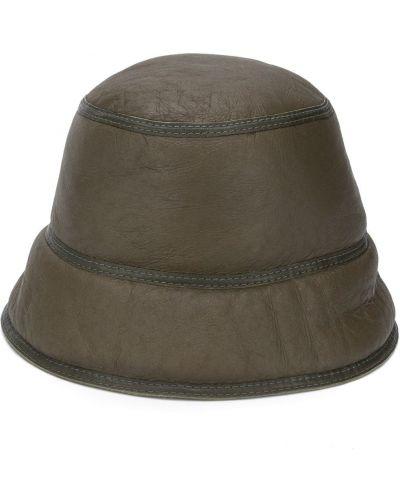 Zielony kapelusz skórzany Simonetta Ravizza