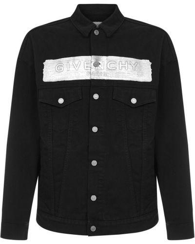 Kurtka jeansowa z printem - czarna Givenchy